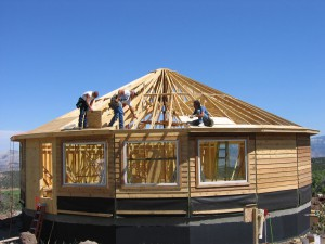 Sheeting the roof