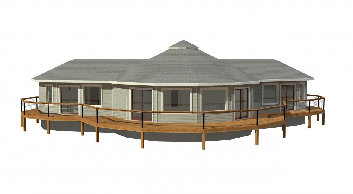 round prefabricated deltec home