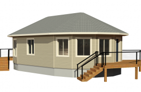 circular deltec prefabricated home